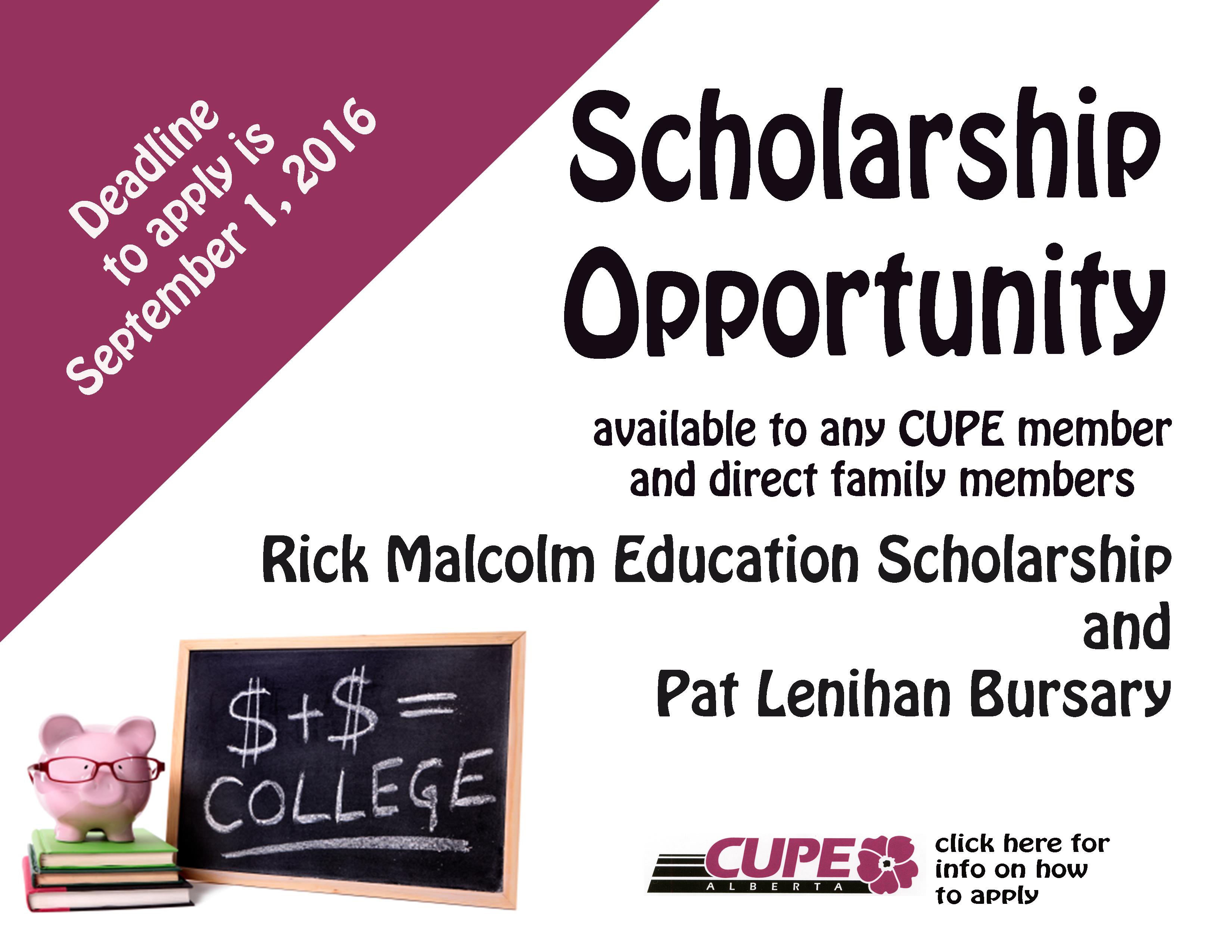 Scholarship poster 2016