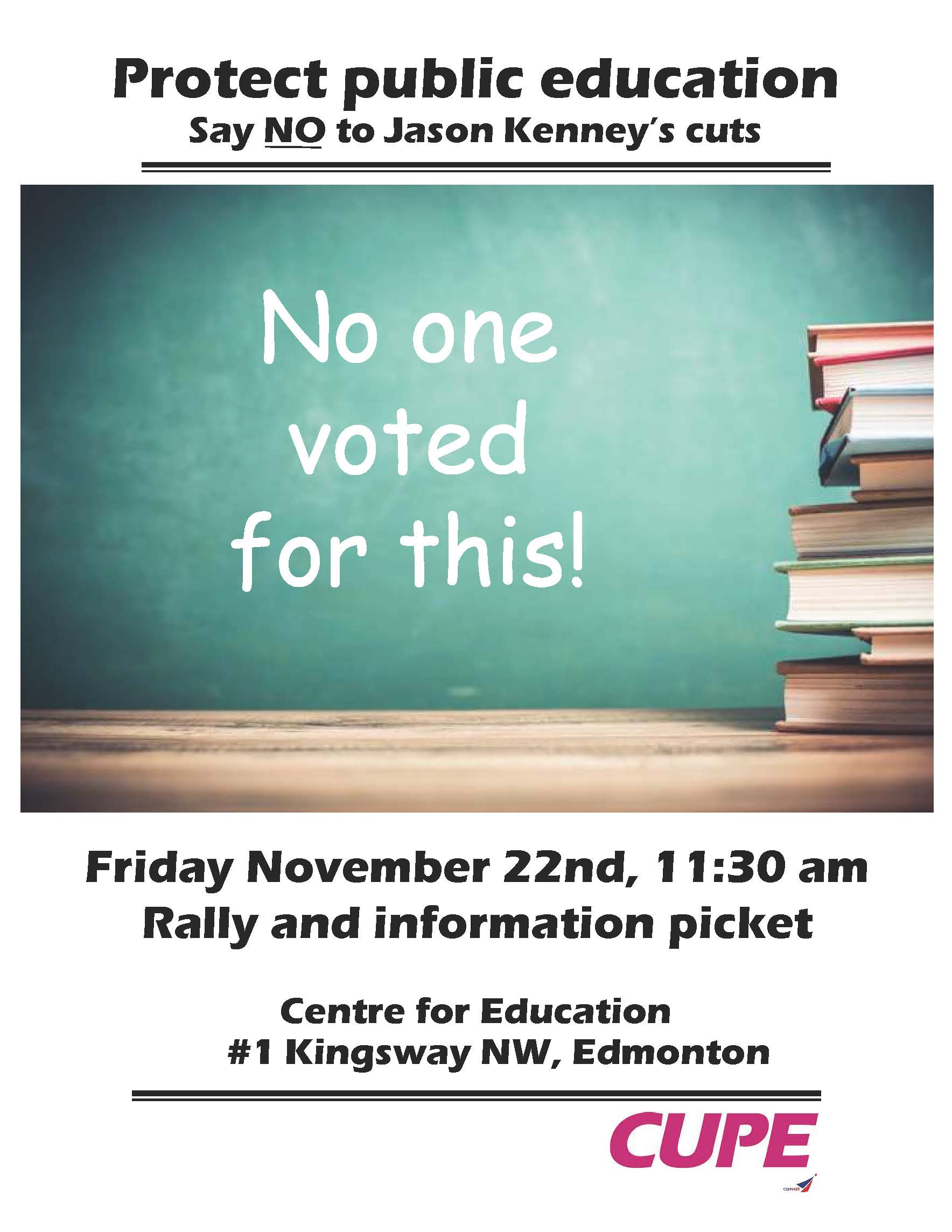 Protect Public Education - Rally @ Centre for Education